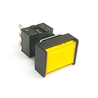 A16-JYM-1  非照光式押ボタンスイッチ  黄  モーメンタリ  16Φ