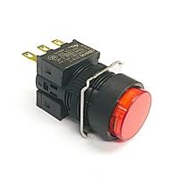 A16-TRM-1  非照光式押ボタンスイッチ  赤 モーメンタリ  16Φ