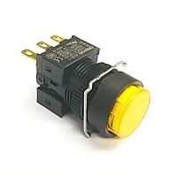 A16-TYM-1  非照光式押ボタンスイッチ  黄 モーメンタリ  16Φ