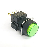 A16L-TGM-24D-1  LED照光式押ボタンスイッチ  緑  モーメンタリ  DC24V 16Φ