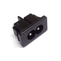 AC-M01SB02  ACインレット  2P  メガネ